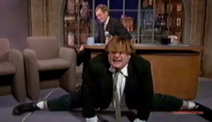 Chris Farley With The Greatest Letterman Entrance Ever